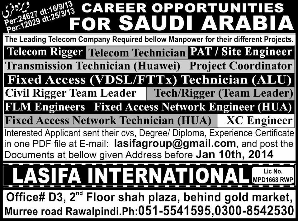 Telecom Company, Saudi Arabia Job Opportunities 2018 Others ...