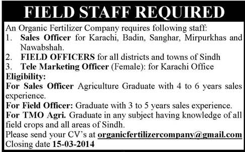 Sales Officer Field Officers Telemarketing Officer  Others