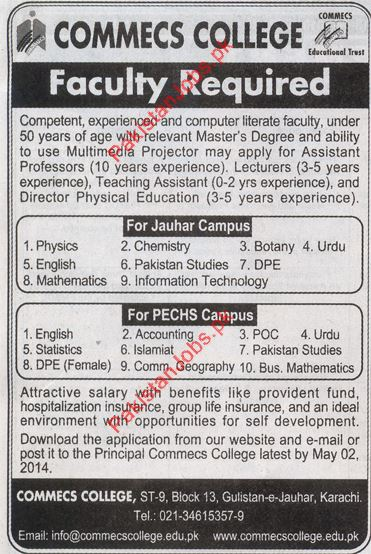 Assistant Professors Lecturers Teaching Assistant 2019