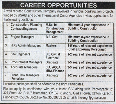 Engineers, HR/Admin Managers, Project Manager, Front Desk - Others ...
