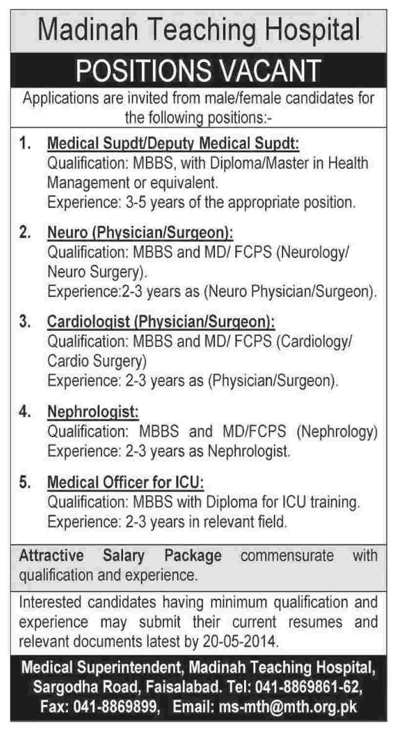 Madinah Teaching Hospital Required Staff 2019 Madinah