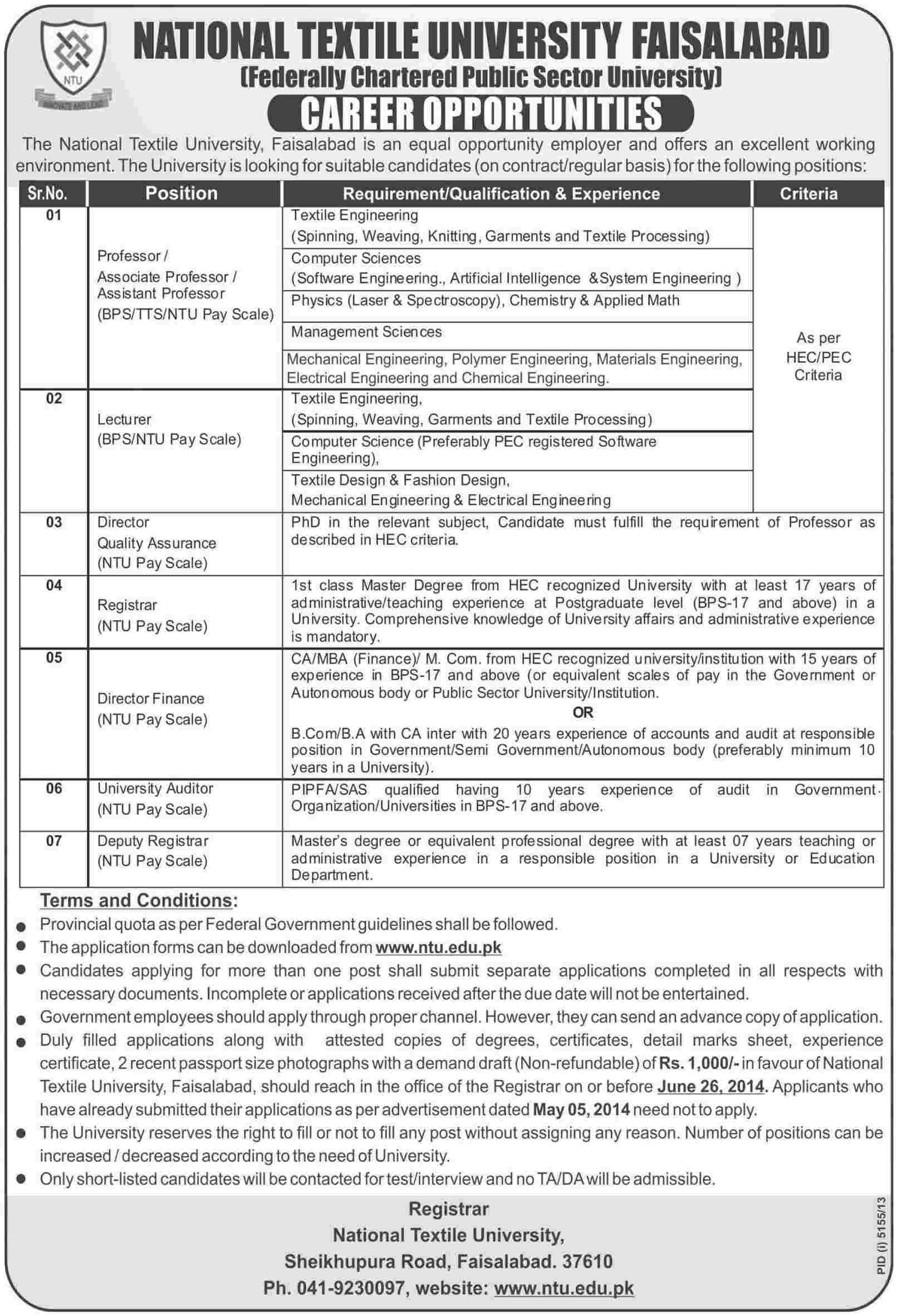 Professor Lecturer Director Finance Registrar Auditor – Finance Director Job Description