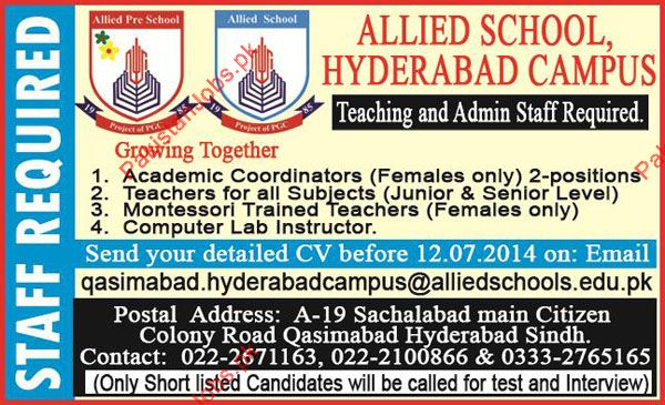 Teachers Job In The Spark School And College