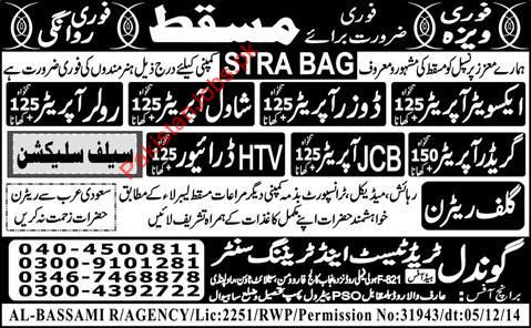 Operators, HTV Drivers Required for Muscat 2019 STRA BAG