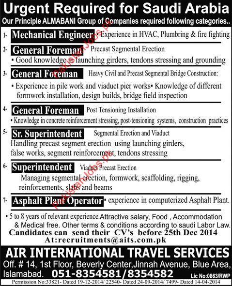 Mechanical Engineer General Foreman General Foreman – Construction Superintendent Job Description