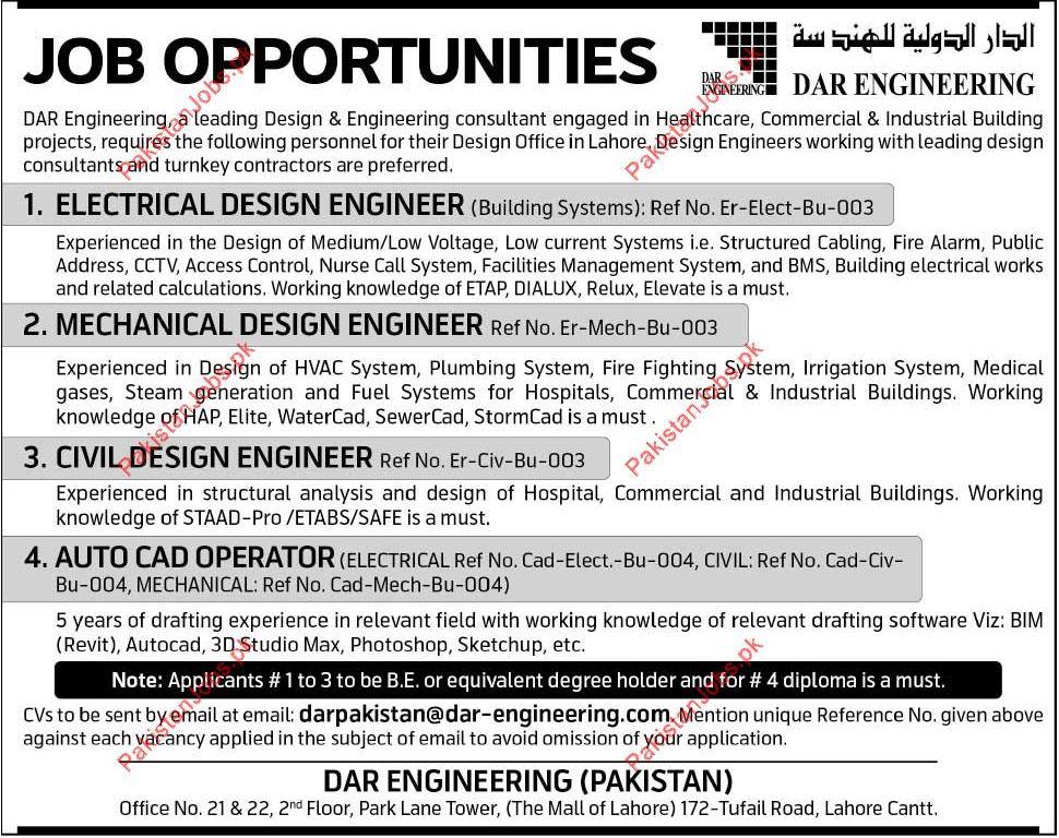 Electrical Design Engineer Mechanical Design Engineer