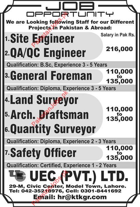 What is the job description of a general foreman?