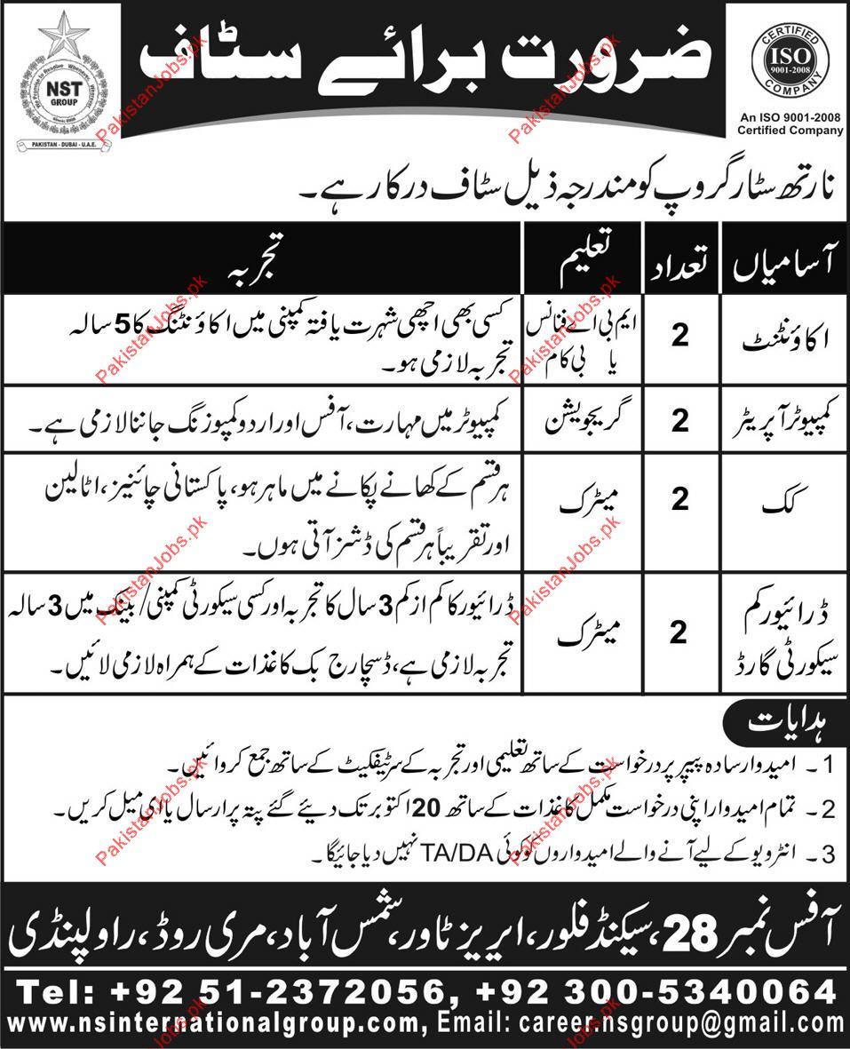 North Star Group Careers 2019 North Star Group Pakistan Jobs
