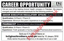 Need Senior Executive Regulatory Affairs & Pharmacist For