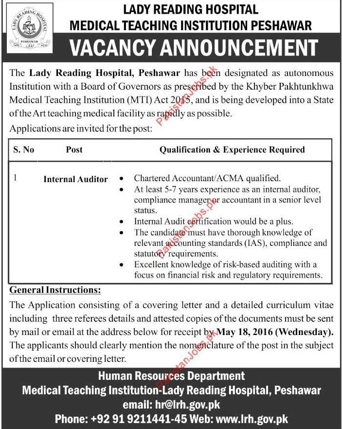 Quality Auditor Jobs 27.04.2017