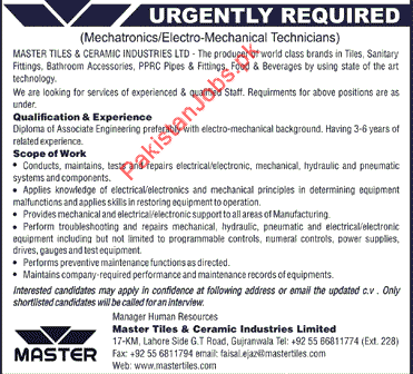 Urgently Required For Gujranwala 2020