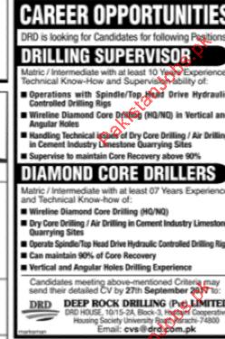 Drilling Supervisor & Diamond Core Drillers Jobs 2019 Deep