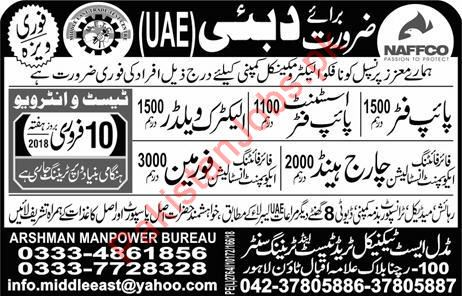 Pipe Fitter, Assistant, Electric Welder, Foreman Job