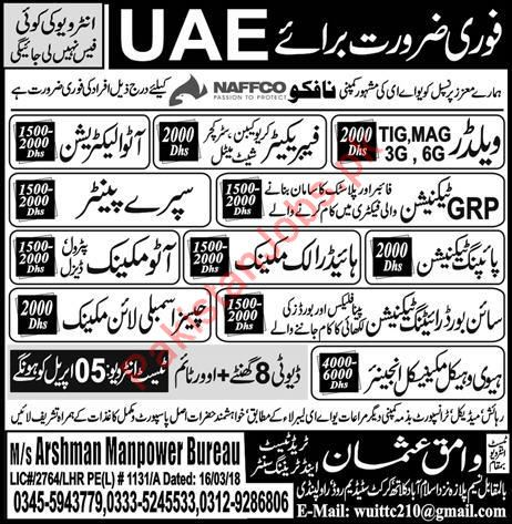 Hydraulic Mechanic Jobs In Uae 2020 Wamiq Usman Trade Test Training Center Jobs In Dubai United Arab Emirates