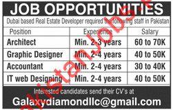 Archiect Graphic Designer Accountant It Web Designer Jobs 2018 In Dubai Uae 2020 Real Estate Developer Firm Jobs In Lahore Pakistan