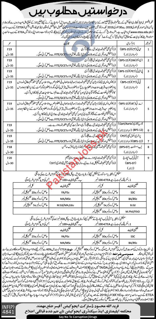 Elementary & Secondary Education Department Jobs 2019 In