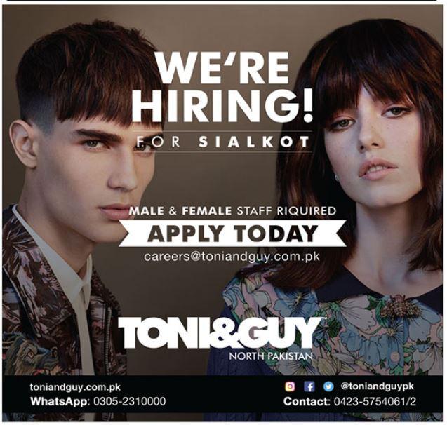 Toni \u0026 Guy Hair Salon Job 2019 in Sialkot 2019 Beauty Salon
