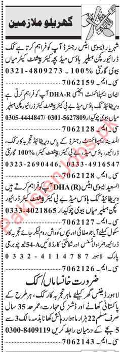 House Staff Jobs 2019 In Lahore 2019 House Jobs in Lahore