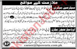 Salesman & Area Sales Managers Jobs 2019 in Karachi 2019 BP