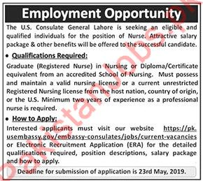 U S Consulate General 2019 U S Consulate General Jobs in Lahore Pakistan