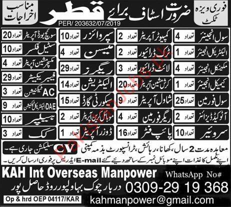 Qatar Jobs - PakistanJobs pk