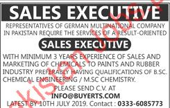 Sales Executive Job in Lahore 2019 Multinational Company