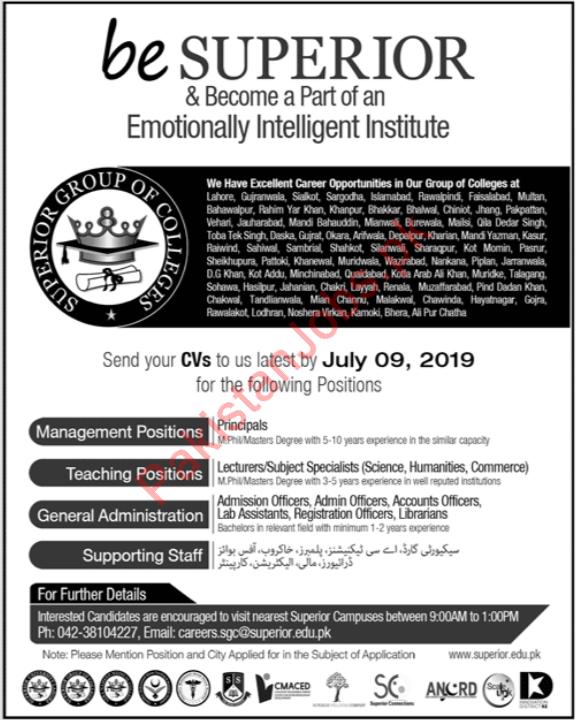 Superior College Jobs 2019 2019 Superior College Jobs in