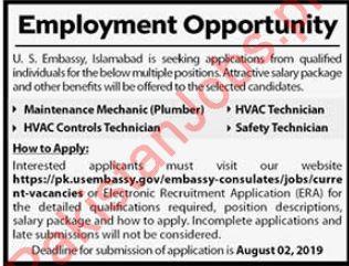 US Embassy Jobs 2019 2019 US Embassy Jobs in Islamabad Pakistan