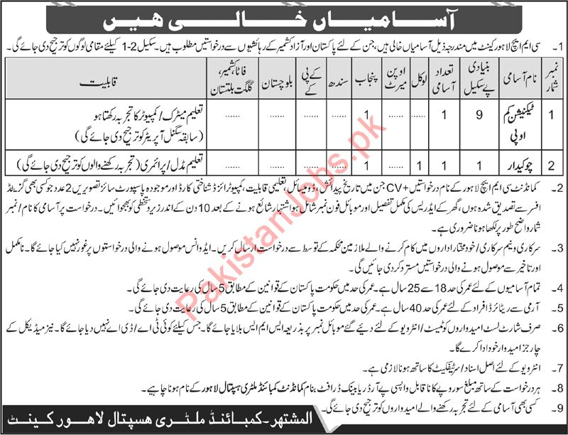 Cmh Lahore Merit List 2019