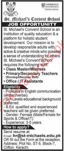 IT Assistant and Teaching Jobs in Karachi Sindh 2019 2019