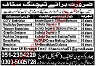 Bharakahu Polytechnic College Islamabad Jobs 2019 2020 Bharakahu Polytechnic College Jobs In Islamabad Pakistan