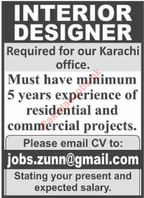 Interior Designer Jobs 2019 In Karachi 2020 Private Company Jobs In Karachi Pakistan
