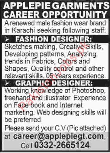 Fashion Designer Graphic Designer Jobs In Karachi 2020 Fashion House Jobs In Karachi Pakistan
